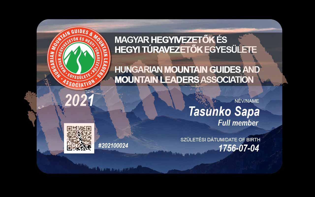 MHVE tagsági kártya - sziklamászó engedély